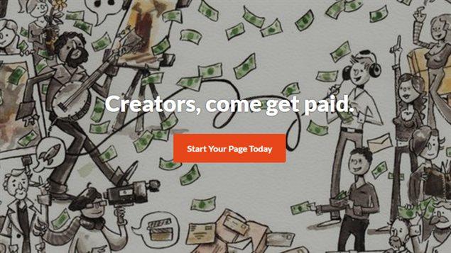 Une illustration de personnes et de billets d'argent provenant du site Patreon.