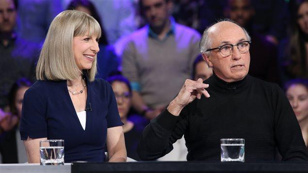 Isabelle Richer et André Cédilot sur le plateau de Tout le monde en parle