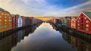 Trondheim au coucher du soleil