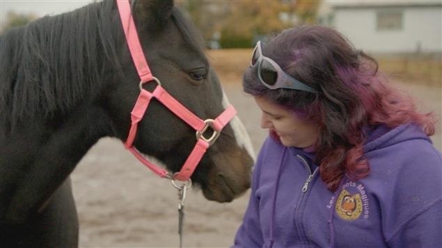 Mousseline et Auguste, chevaux thérapeutiques