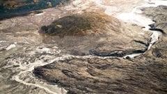 Une rivière piratée par la fonte d'un glacier