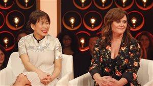 Kim Thúy et Patricia Paquin à l'émission « Les échangistes ».
