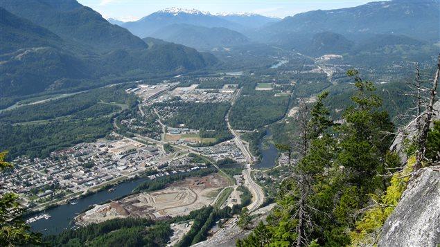Squamish, une des villes de la circonscription West Vancouver - Sea to Sky.