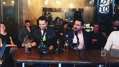 Denis Bernard, Sébastien Diaz, Samuel Archibald et l'invité d'honneur Patrick Senécal
