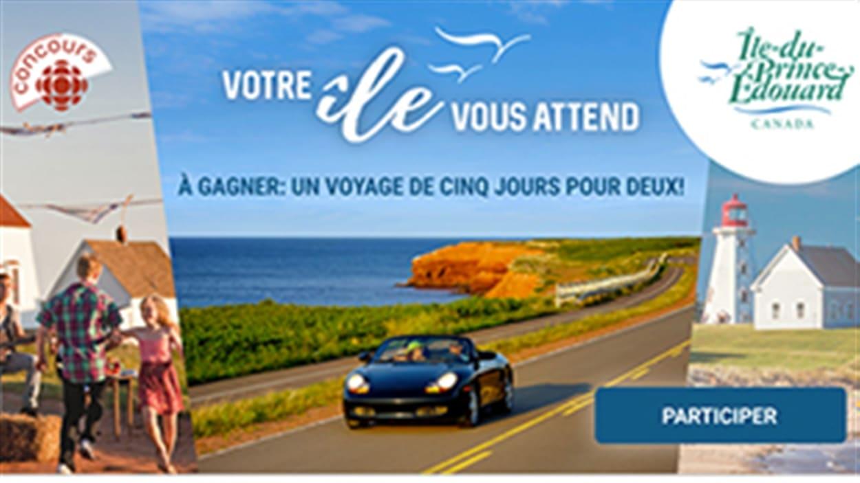 Un voyage à gagner de cinq jours pour deux à l'Île-du-Prince-Edouard