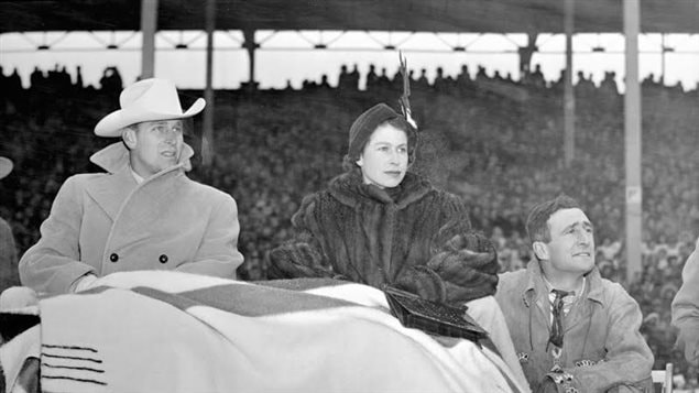 La reine Elizabeth II et le prince Phillip au Calgary Stampede 1951