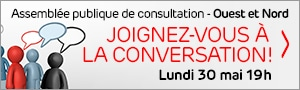 Invitation grand public : Assemblée publique de consultation Ouest et Nord