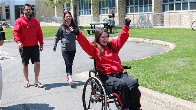 La paraplégie, pas un obstacle pour Claudia Duchesne