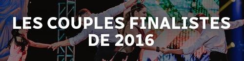 Les couples finalistes de 2016
