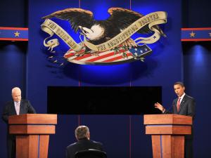 Premier débat télévisé entre John McCain et Barack Obama
