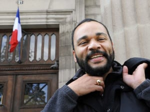 Dieudonné devant le tribunal correctionnel d'Aurillac, en avril dernier, pour une affaire l'opposant à l'animateur de télévision Arthur