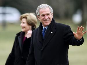 George W. Bush à la Maison-Blanche le 18 janvier 2009