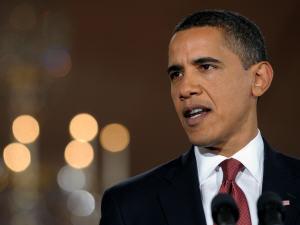 Barack Obama en conférence de presse à la Maison-Blanche