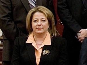 Sylvie Roy lors de son assermentation à l'Assemblée nationale, le 19 décembre 2008