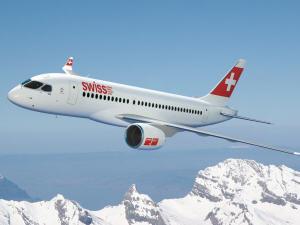 Appareil CS100 de Bombardier.