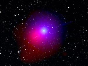La comète Lulin dans un ciel étoilé