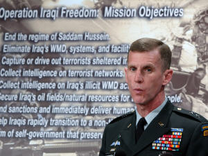 Le général Stanley McChrystal, commandant des forces américaines en Afghanistan