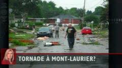 Dommages causés par une tornade à Mont-Laurier