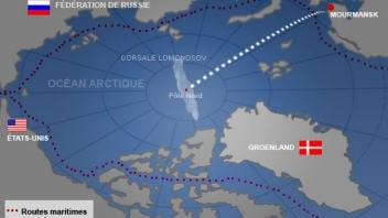 Carte du pôle Nord