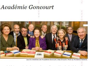 Les membres de l'Académie Goncourt