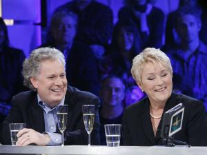 Jean Charest et Pauline Marois étaient deux des invités de la spéciale de «Tout le monde en parle», le 31 décembre 2008.