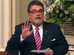 Le député libéral Norman MacMillan à l'Assemblée nationale, le 18 novembre 2009