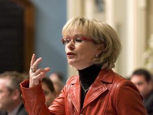 La ministre Julie Boulet à l'Assemblée nationale, le 18 novembre 2009