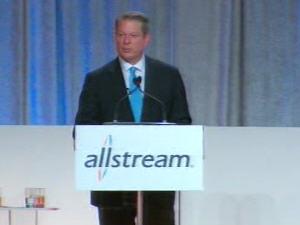 Al Gore lors de sa conférence à Toronto