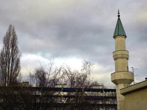 Minaret de la mosquée de Genève