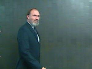 Le présumé pasteur Daniel Cormier au palais de justice de Montréal