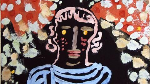 Portrait dans le jardin (détail)