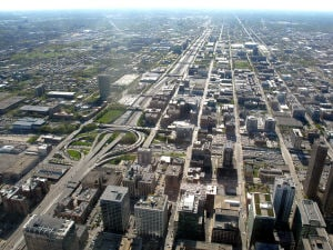 Échangeur au centre-ville de Chicago