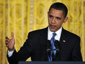Le président Barack Obama lors de la conférence de presse jeudi.