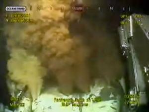 Prise de vue de la webcam de BP pendant l'opération «étouffement par le haut»