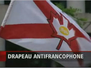 Le drapeau antifrancophone