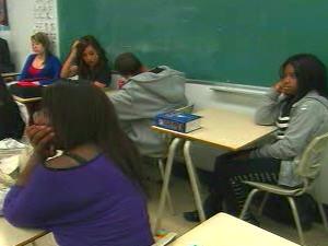 Une classe d'adolescents