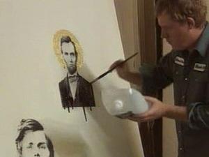 Le peintre Marc Séguin dans son atelier de New York