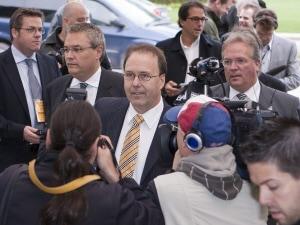 Marc Bellemare, à son arrivée à la commission, jeudi dernier.
