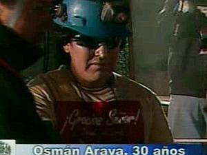 Osman Araya, le sixième mineur secouru
