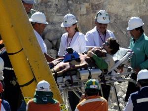 Yony Barrios, le 21e mineur secouru