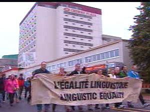 Marche pour l'égalité linguistique à Moncton