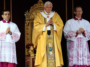 Le pape Benoît XVI