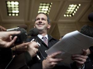 Le journaliste Daniel Leblanc était souriant en commentant le jugement.