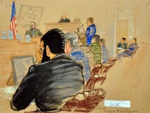 Croquis judiciaire du procès d'Omar Khadr
