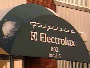 Façade de l'usine d'Electrolux