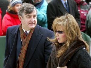 Lucien Bouchard et Audrey Best lors des funérailles de Claude Ryan, le 13 février 2004
