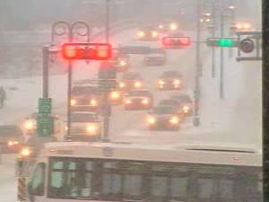 La circulation à Sherbrooke à 8 h 30 mercredi