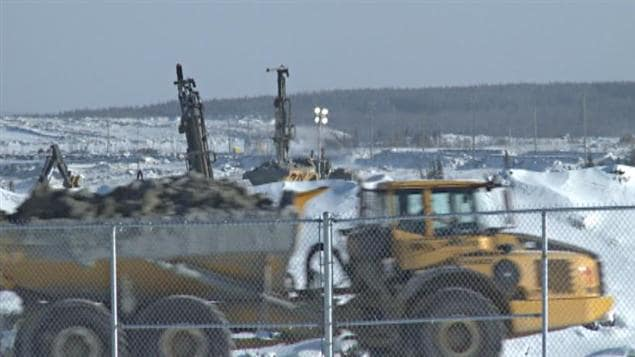 Le chantier de la mine d'Osisko, à Malartic