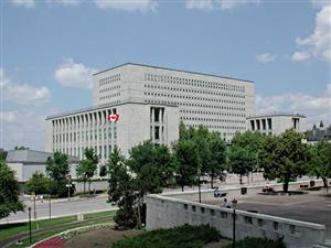 L'édifice de Bibliothèque et Archives Canada, situé au centre-ville d'Ottawa