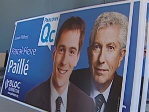 Les affiches électorales du candidat Pascal-Pierre Paillé